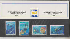 MNH MALTA STAMP PRESENTATION PACK 1998 YEAR OF THE OCEAN SG 1077-1080