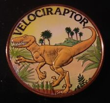 1 OZ COLORIZED COPPER ROUND VELOCIRAPTOR (COLOR FRONT ONLY)