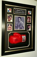 *** LUXURY FRAMED Roberto Duran SIGNED GLOVE Display *** HANDS OF STONE