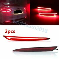 For 2013-2016 Ford Fusion Mondeo LED Rear Bumper Reflector Brake Tail Light Lamp