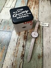 Fossil Women's Jacqueline Beige Leather Watch ES3793 OPENED BOX