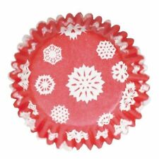 54 Christmas Snowflakes cupcake muffin baking cases next day despatch