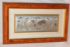 Bruno Castellani Sterling framed plaque earth signed Plate Italy acca ART LARGE
