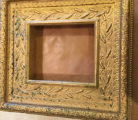 Ornate Antique Frame Has Many Layers Of Woodwork, Newspaper On Back Dated 1890