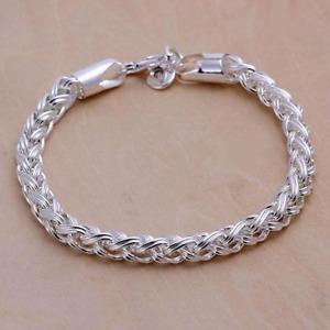 Men's / Women's 925 sterling silver twisted bracelet chain link + free gift bag