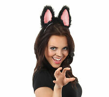 Moving Ears Sexy Black Cat Adult Costume Accessories Sound Activated