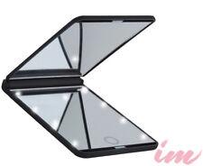 Illuminate Me LED Travel Makeup Mirror - Matte Black
