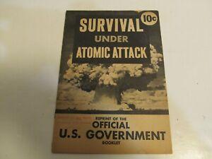 Vintage Original Official Government Booklet Survival Under Atomic Attack