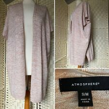 Atmosphere Short Sleeve Beige Casual Long Open Cardigan - S/M 12 14