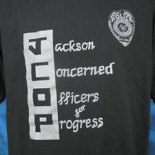 vintage 80s JACKSON MISSISSIPPI POLICE DEPARTMENT PAPER THIN T-Shirt L officer