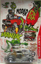 Hot Wheels CUSTOM 3-WINDOW '34 Mopar Rat Fink Real Riders Limited Edition!