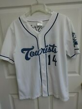 2014 MiLB Asheville Tourists SGA Button Front Baseball Jersey Men Large Rockies