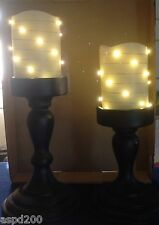 Lightscape Decorative Flameless Candles With Holders-Set of 2