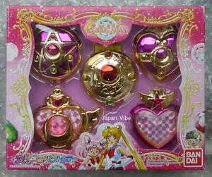 Sailor Moon 20th Anniversary 5 Compact Mirror Set Pack Bandai