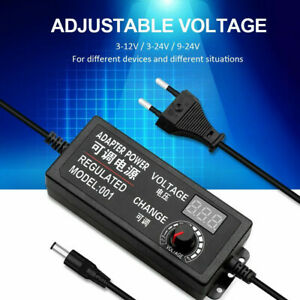 Adjustable switching Regulated power with LED Display 3V 12V 3A 5A For LED strip