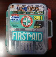 Emergency First Aid Kit Hard Case 351 p Complete Care Exceed OSHA ANSI Workplace