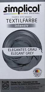"Simplicol Textilfarbe intensiv all in 1 -Flüssige Rezeptur ""Elegantes Grau Neu!"
