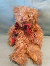 Russ Berrie & Co Chestnut Small Beanie Light Brown Fluffy Teddy Bear GC.
