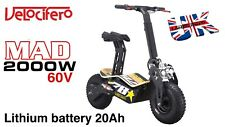 Velocifero MAD 2000W 60V Lithium 20Ah Electric Scooter. Viper Scooters