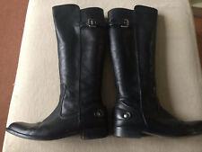 Zara Knee High Black Boots Size 38