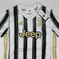 Adidas Juventus FC 20/21 Home Jersey Aeroready Womens Small Stripe Black White