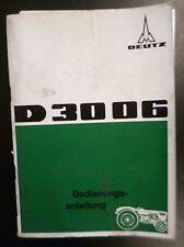 Deutz Schlepper D3006 Betriebsanleitung