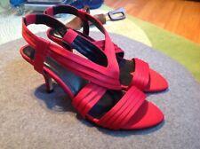 Hobbs Red Satin/Leather Slingback Shoes Size 36 ***NEW***Wedding Season