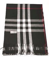 New Pashmina Scarf Shawl Veil Black Quality Wrap Woman Men Plaid Accessory