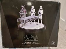 More details for boba fett with han solo in carbonite 2010 star wars gentle giant statue