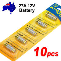 10x OZ 27A 12V MN27 LR27 A27 L828 V27GA Alkaline Battery Garage Car Remote Alarm
