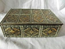 Vintage Decorative Brass / Wood Lined Cigarette/Cigar Box.