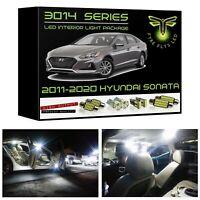 White LED interior lights package kit for 2011-2020 Hyundai Sonata 3014 SMD+Tool