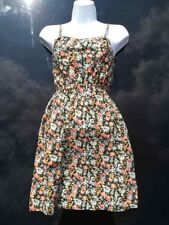 PRIMARK LADIES STRAPPY SUMMER COTTON DRESS LONG TOP UK  8 or 10 FLORAL or ANIMAL