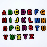 Pabucle 26pcs Colorful Letters Shoe Charms For Clog Shoe/Wristband Kids Gifts
