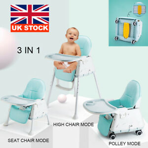 Adjustable Portable 3 in 1 Collapsible Baby High Chair Infant Feeding Seat New