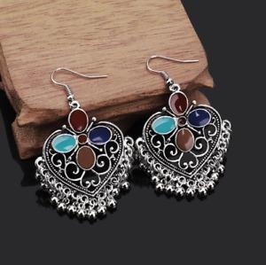 Women Luxury Waterdrop Earrings Alloy Hook Drop Dangle Crystal Boho Jewelry
