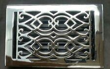 Signature Hardware VIC610BR-CH Victorian Brass Floor Register, in Chrome