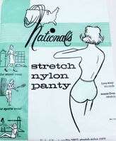 Vtg National's Panties 100% Nylon Stretch White, Womens L Large NOS
