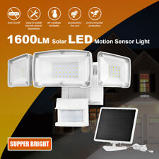 Solar Security Light Outdoor, 1600LM Solar LED Motion Sensor 5500K White Light