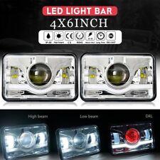 2Pcs 4x6 LED Headlights for Kenworth T400 T600 T800 W900L W900B Classic 120/132
