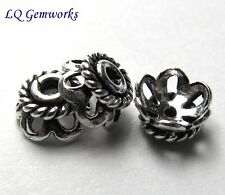 50 Bali Sterling Silver 6x3mm Bead Caps <764>