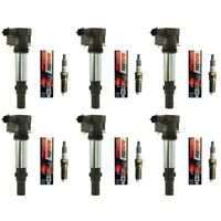 New Ignition Coil Set (6) + (6) Autolite Spark Plugs For 2004-10 Buick Cadillac