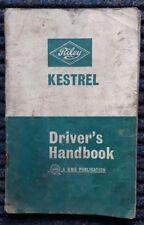 RILEY Kestrel Car Drivers Manual Handbook Feb 1966