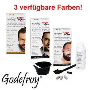 Godefroy Barbers Choice Bartfarbe 3 Anwendungen für einfaches Bart färben