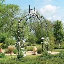 Gardman Gothic Black Garden Arch - Outdoor Metal Rose Garden Archway