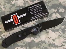 Ontario 8846 Randall's RAT Model 1 Folding Knife AUS8 Black Plain Blade O NEW