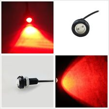 1 x Auto SUV 18mm Red COB LED Eagle Eye Hawkeye DRL Light Driving Fog Light Bulb
