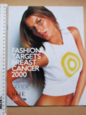 FASHION TARGETS BREAST CANCER YEAR 2000 8-PAGE BOOKLET AVON VOGUE ARIEL FORD