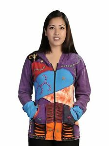 WOMEN LONG SLEEVE MULTI COLOR STONE WASHED COTTON CARDIGAN ATTACH HOOD!