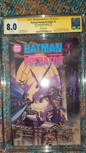 CGC Batman Vs PREDATOR #2 8.0 VF SIGNED Arthur Suydam NEW DC comics battle